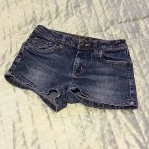 Justice Jean shorts sz 8R Blue denim